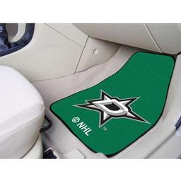 "Click here to learn more about the Dallas Stars 2-pc Printed Carpet Car Mats 17""x27""."