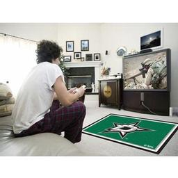 Click here to learn more about the Dallas StarsRug 4''x6''.