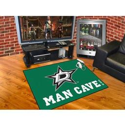"Click here to learn more about the Dallas Stars Man Cave All-Star Mat 33.75""x42.5""."