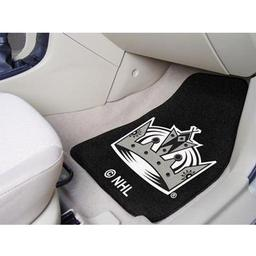 "Click here to learn more about the Los Angeles Kings 2-pc Printed Carpet Car Mats 17""x27""."