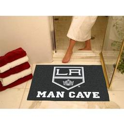 "Click here to learn more about the Los Angeles Kings Man Cave All-Star Mat 33.75""x42.5""."