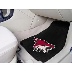 "Click here to learn more about the Phoenix Coyotes 2-pc Printed Carpet Car Mats 17""x27""."