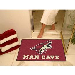 "Click here to learn more about the Phoenix Coyotes Man Cave All-Star Mat 33.75""x42.5""."