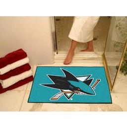 "Click here to learn more about the San Jose Sharks All-Star Mat 33.75""x42.5""."