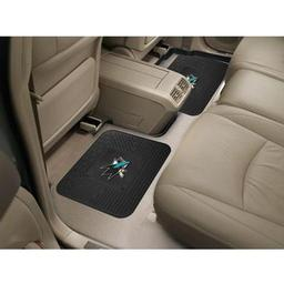 "Click here to learn more about the San Jose Sharks Backseat Utility Mats 2 Pack 14""x17""."