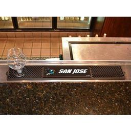 "Click here to learn more about the San Jose Sharks Drink Mat 3.25""x24""."