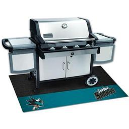 "Click here to learn more about the San Jose Sharks Grill Mat 26""x42""."