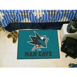 "Click here to learn more about the San Jose Sharks Man Cave Starter Rug 19""x30""."