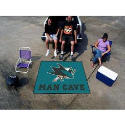 Click here to learn more about the San Jose Sharks Man Cave Tailgater Rug 5''x6''.