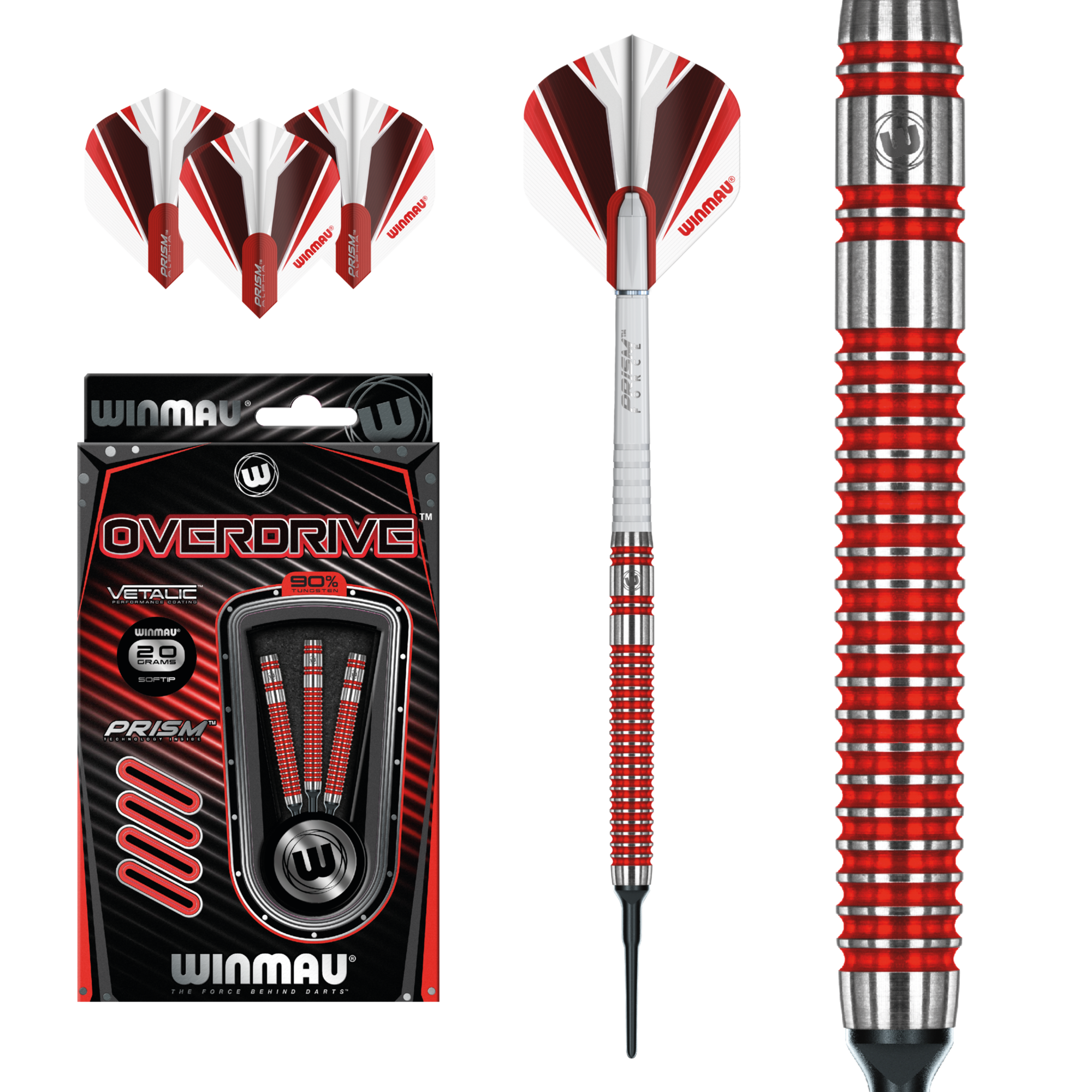 Click here to learn more about the Winmau Overdrive Soft Tip Darts.