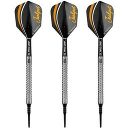 Click here to learn more about the Adrian Lewis Gen. 3 90% Tungsten Soft Tip Darts 19 Grams.