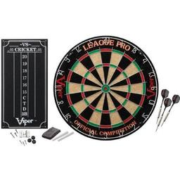 Click here to learn more about the Viper League Pro Sisal Dartboard Starter Kit.