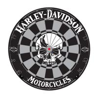 Click here to learn more about the Harley-Davidson Skull Bristle Dartboard.