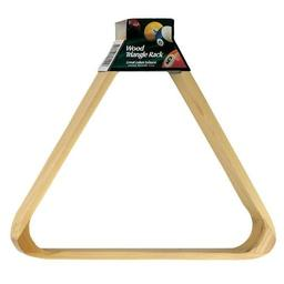 Click here to learn more about the Wood Triangle Billiard Ball Rack.
