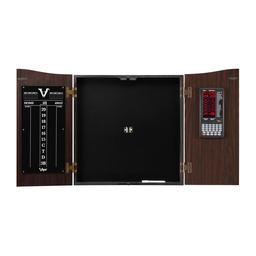 Click here to learn more about the Viper Vault Deluxe Dartboard Cabinet with Integrated Pro Score.