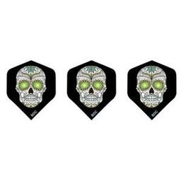 Click here to learn more about the Bottelsen White Sugar Skull Tattoo Standard Dart Flight.