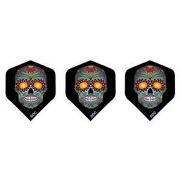 Click here to learn more about the Bottelsen Blue Sugar Skull Tattoo Standard Dart Flight.
