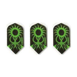 Click here to learn more about the Elkadart Nylon Green and Black Slim Dart Flights .