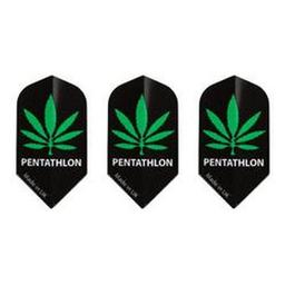 Click here to learn more about the GLD Marijuana Pot Leaf Slim Pentathlon 2071 Dart Flights.
