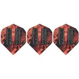 Click here to learn more about the GLD Flame Pentathlon 2384 Standard Dart Flights.