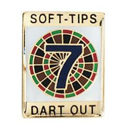 "Click here to learn more about the Soft-Tips ""7 Dart Out"" Award Pin ."