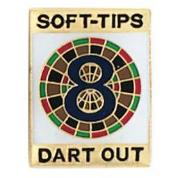 "Click here to learn more about the Soft-Tips ""8 Dart Out"" Award Pin."