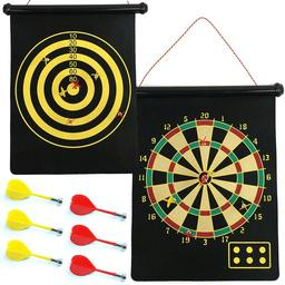 Click here to learn more about the Magnetic Roll-up Dartboard and Bullseye Game with Darts.