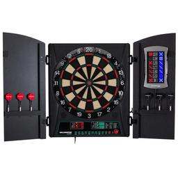 Click here to learn more about the Bullshooter CricketMaxx 1.0 Electronic Dartboard Cabinet.