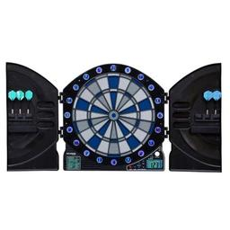 Click here to learn more about the Arachnid Bullshooter Illuminator 3.0 Electronic Dartboard Cabinet .