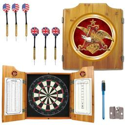 Click here to learn more about the Anheuser Busch A & Eagle Dart Cabinet Including Darts and Dart Board.