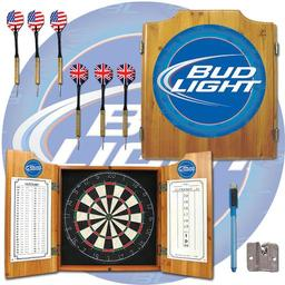 Click here to learn more about the Bud Light Dart Cabinet Including Darts and Dart Board.