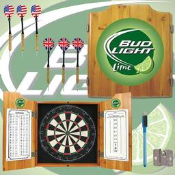 Click here to learn more about the Bud Light Lime Dart Cabinet Including Darts and Dart Board.