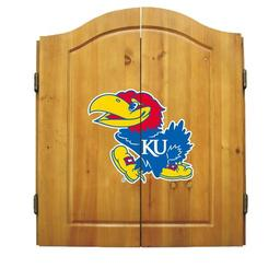 Click here to learn more about the University of Kansas NCAA Dart Cabinet With Darts and Dartboard.