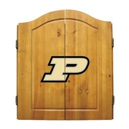 Click here to learn more about the Purdue University NCAA Dart Cabinet With Darts and Dartboard.