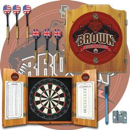 Click here to learn more about the Brown University Dart Cabinet Including Darts and Dart Board.