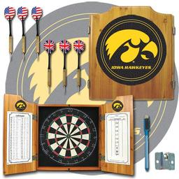 Click here to learn more about the University of Iowa Dart Cabinet Including Darts and Dart Boards.