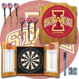 Click here to learn more about the Iowa State University Dart Cabinet Including Darts and Dart Board.