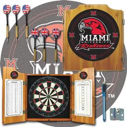 Click here to learn more about the Miami University Ohio Dart Cabinet Including Darts and Dart Board.
