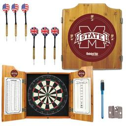 Click here to learn more about the Mississippi State University Dart Cabinet Including Darts and Dart Board.