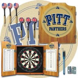 Click here to learn more about the University of Pittsburgh Dart Cabinet Including Darts and Dart Board.