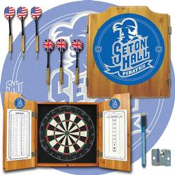 Click here to learn more about the Seton Hall University Dart Cabinet Including Darts and Dart Board.