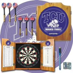Click here to learn more about the Texas Christian University Dart Cabinet Including Darts and Dart Board.