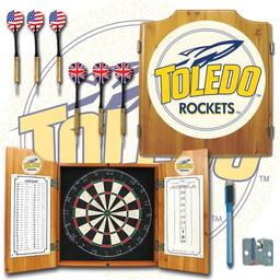 Click here to learn more about the University of Toledo Dart Cabinet Including Darts and Dart Board.