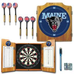 Click here to learn more about the University of Maine Dart Cabinet Including Darts and Dart Board.