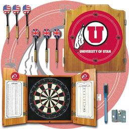Click here to learn more about the University of Utah Dart Cabinet Including Darts and Dart Board.