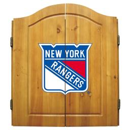 Click here to learn more about the New York Rangers NHL Dart Cabinet Set .