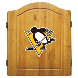 Click here to learn more about the Pittsburgh Penguins  NHL Dart Cabinet Set  .