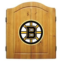 Click here to learn more about the Boston Bruins NHL Dart Cabinet Set.