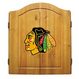 Click here to learn more about the Chicago Blackhawks  NHL Dart Cabinet Set .