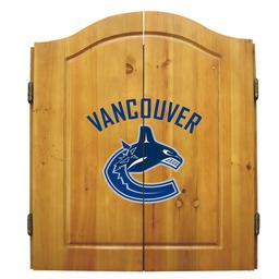 Click here to learn more about the Vancouver Canucks  NHL Dart Cabinet Set .
